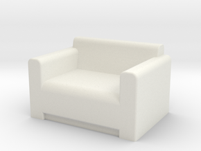 Comfy Chair OO Scale in White Strong & Flexible