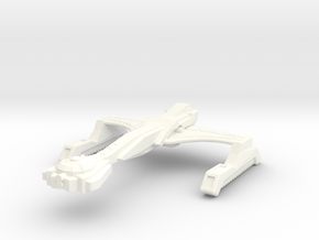 Ma'Gorrah Class Destroyer in White Strong & Flexible Polished