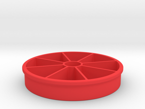 Apple Slicer 100mm/4-in Diameter in Red Strong & Flexible Polished