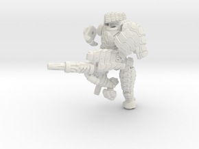 Mech suit with twin weapons.(8) in White Strong & Flexible