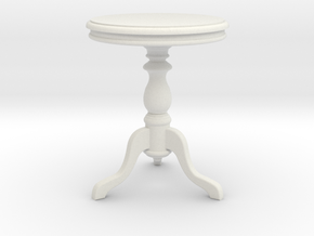 1:24 Wood Side table1 in White Strong & Flexible