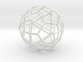 DeltoidalHexecontahedron 70mm in White Strong & Flexible