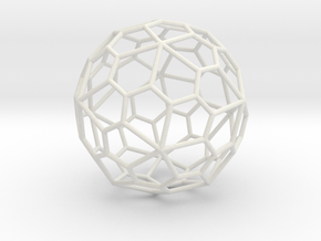 PentagonalHexecontahedron 70mm in White Strong & Flexible