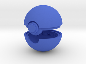 Pokeball Ring Box in Blue Strong & Flexible Polished