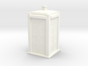 Police box in White Strong & Flexible Polished