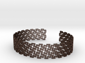 Khandi bangle D in Matte Bronze Steel