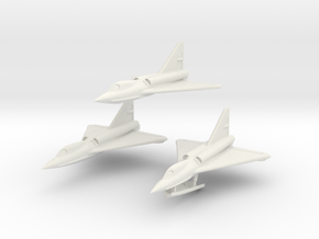 Convair F2Y 6mm 1/285 (Three seaplanes set) in White Strong & Flexible