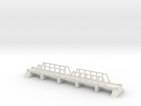 1/700 Steel Girder Rail Bridge in White Strong & Flexible