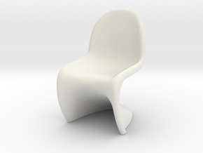 Panton Chair Scale 1/10 (10%) in White Strong & Flexible
