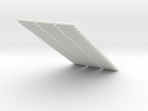 1200 Wide Stair 4mm Scale X 3 in White Strong & Flexible