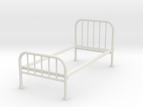 1:24 Iron Bed 1 (Not Full Size) in White Strong & Flexible
