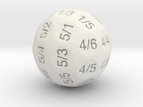 D36 Truncated Individual Numbers in White Strong & Flexible