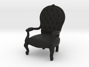 1:39 Scale Model - ArmChair 02 in Black Strong & Flexible