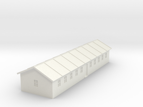 1/350 Barracks 2 in White Strong & Flexible