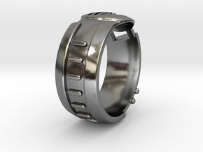 Visor Ring 9.5 in Polished Silver