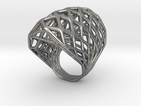 Ring 002 in Raw Silver