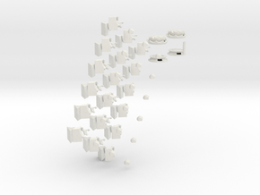 deeper cut nonagonal domino print 1 (1 of 2) in White Strong & Flexible