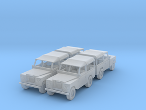 4 Landrover 1:120 in Frosted Ultra Detail