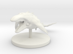 1 Inch Mega Whale in White Strong & Flexible