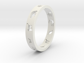 Animal Ring in White Strong & Flexible