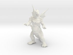 """Pyrosaurus - Solid core 3"""" in White Strong & Flexible"""