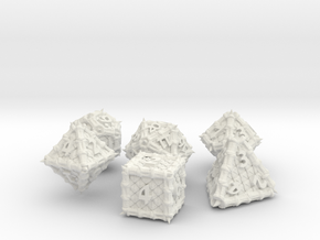 Dragon Dice Set noD00 in White Strong & Flexible
