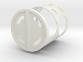 Bench Cookie Holder Mk 2 in White Strong & Flexible