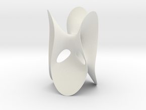Clebsch Diagonal Surface, no lines, 119mm (4.7in) in White Strong & Flexible