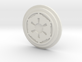 Imperial Logo Pommel Insert1 in White Strong & Flexible