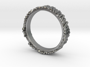 Matchstick ring 17mm in Raw Silver