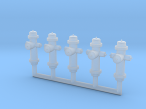 HO-Scale Fire Hydrants in Frosted Ultra Detail