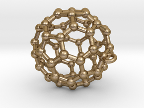 BuckyBall C60 Pendant Metal ~ 3cm in Polished Gold Steel