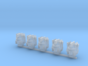 Autobot heads 001a (prime heads) (x5) in Frosted Ultra Detail