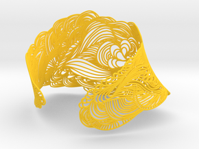 WAVE NECKLACE in Yellow Strong & Flexible Polished