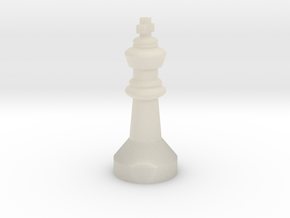 Chess figure King in White Acrylic