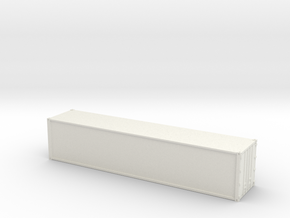 40ft Container Smooth, (NZ120 / TT, 1:120) in White Strong & Flexible