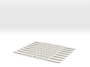 1/6 scale THROWING KINFE x16 pcs in White Strong & Flexible