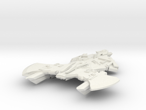 Mirror Universe Klingon Cardassian Hybrid lll in White Strong & Flexible