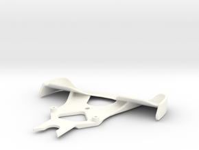 Winged F1 Bumper V1 in White Strong & Flexible Polished