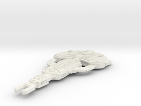 Cardassian Turon Class (Largest) in White Strong & Flexible
