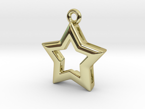 Star in 18k Gold