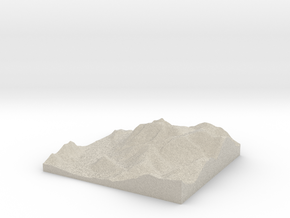 Model of Buttermere in Sandstone