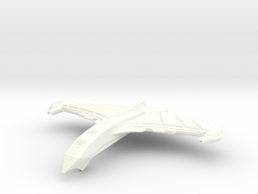 Attack spaceship Blood Hawk (Smaller) in White Strong & Flexible Polished