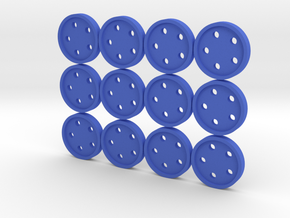 """5/8"""" five-holed buttons (dozen) in Blue Strong & Flexible Polished"""