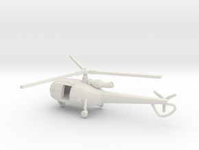 1:144 Alouette3 OPEN  TRANSPORT  in White Strong & Flexible