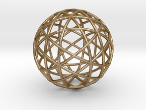 Star Cage: Sacred Geometry 12 Circles 40mm in Polished Gold Steel