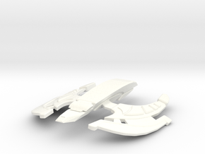 Romulan Spider Ship in White Strong & Flexible Polished