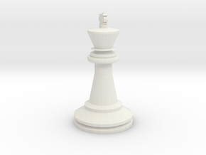 Large Staunton King Chesspiece in White Strong & Flexible