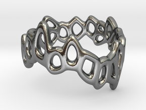 Meshring 03 in Polished Silver