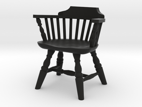 1:24 Low Back Windsor Chair in Black Strong & Flexible